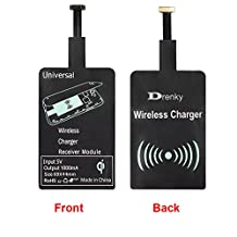 Qi Wireless Android Charger Receiver, Micro USB Type A, Narrow Interface Up, for Samsung Galaxy S5 S4 S3 Note 3 Note 4 Note 2
