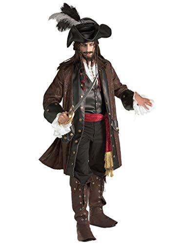 Rubie's Grand Heritage Collection Deluxe Caribbean Pirate Costume, Brown, ()
