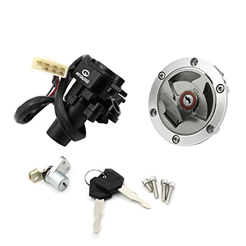 Alpha Rider Ignition Switch Lock Fuel Gas Cap Cover Seat Lock Keys Set For Kawasaki Ninja 250R EX250J SE 2012 | Ninja 250R EX250J 2008-2012