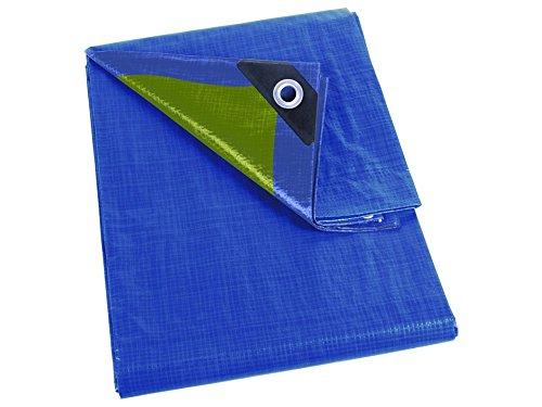 Perel Abdeckplane Normal, 1200 x 1500 x 0,3 cm, blau / khaki, 259-1215