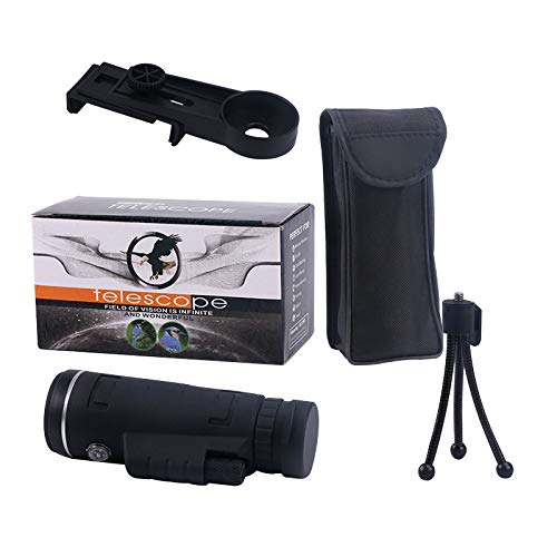 TRIBULL 40X60 HD 8X Monocular Telescope Cell Phone Adapter Included Best Hunting, Outdoor, Birding, Spotting Wildlife, Hiking by TRIBULL