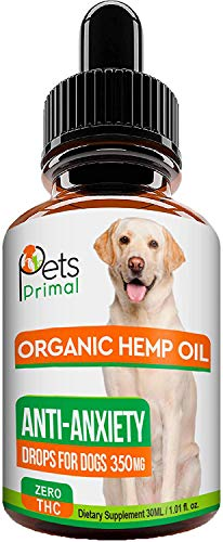 Hemp Oil for Dogs & Cats - Full Spectrum Hemp Extract Made in USA - Organic Pet Hemp Oil - Supports Hip & Joint Health, Pain Relief, Anti-Anxiety - 350MG with Omega 3, 6
