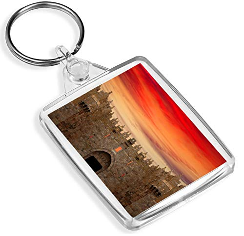 Damascus Gate Keyring Jerusalem Travel Red Sky Cool Sunset Keyring Gift #8982