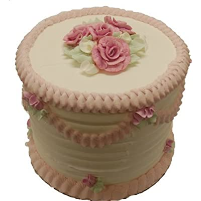 Flora-cal Products Pink Lace Tall Fake Cake 9 Inch: Home & Kitchen