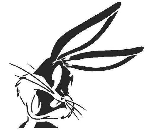 'Airbrush Supply Online Bugs Bunny, Art Mural, peinture, Pochoir réutilisable en Mylar véritable 125microns cfsupplies