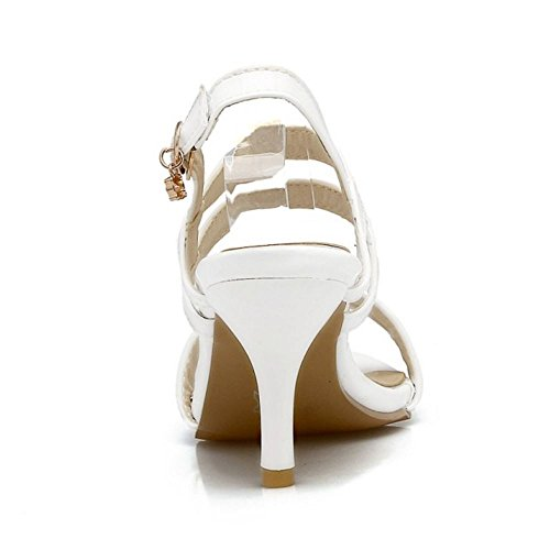 Zanpa Mujer Dulce Dress Sandales Stiletto Tacon Verano Zapatos Blanco