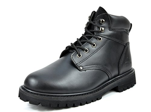 arctiv8 Mens Full-Grain Leather Work Boots Engine-black
