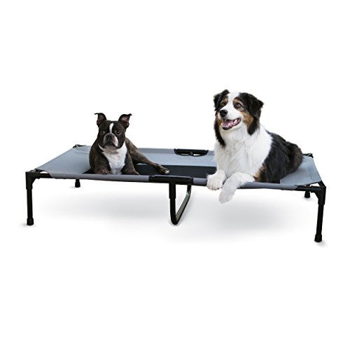 K&H Pet Products Original Pet Cot Elevated Pet Bed, Gray/Mesh, X-Large