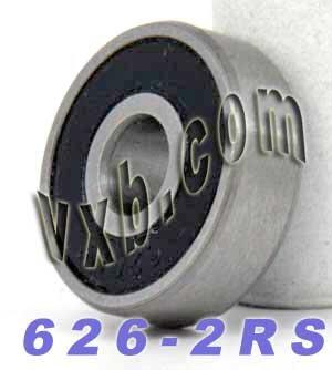 626-2RS Miniature Bearing 6mm x 19mm x 6 Bearings VXB