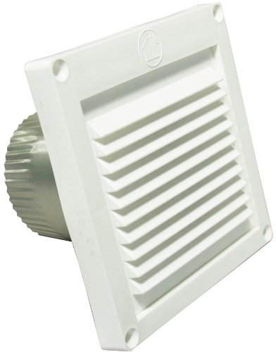 Speedi-Products EX-EVML 03 3-Inch Diameter Micro Louver Eave Vent, White