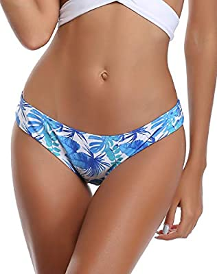 SHEKINI Womens Bathing Suits Floral Printing Swim Bottoms Padded Halter Bandage Bikini Two Piece Swimsuits
