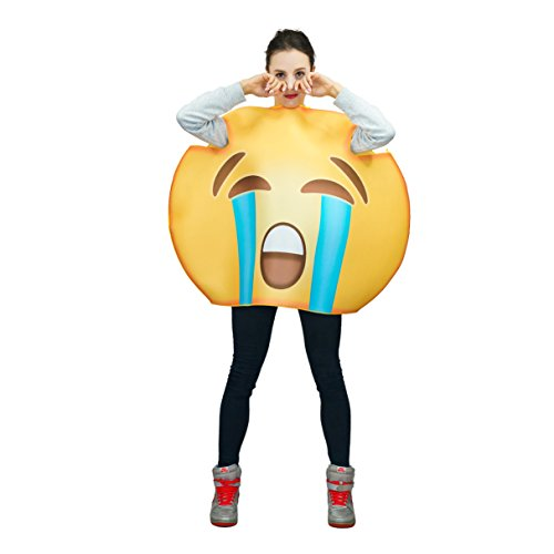 Unisex Adult Emoticon Costumes Cry One Size