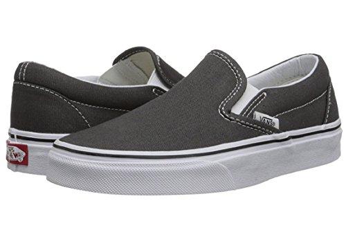 Classic Skateboard Shoe - Vans Unisex Classic Slip-On Skate Shoe (5 D(M), Charcoal)
