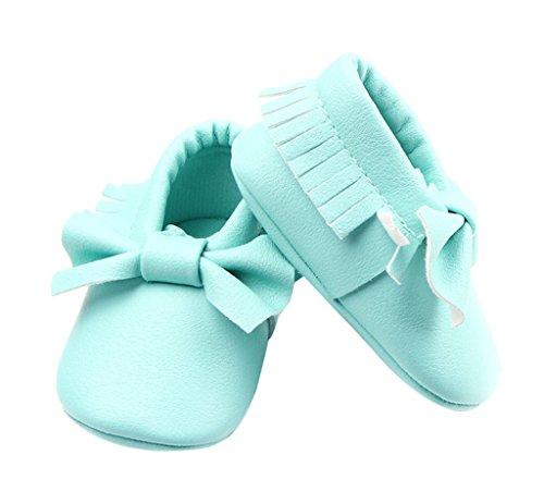 premium selection 26690 39d01 La Vogue Zapatos para Bebe con Lazo y borla Primeros Pasos Turquesa Talla  11cm ...