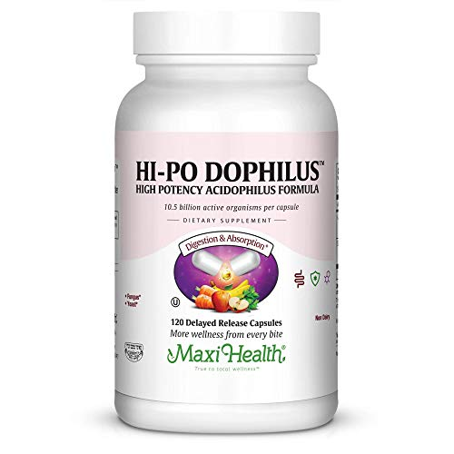 Maxi Health HI-PO Dophilus High Potency Acidophilus Probiotics, 120 Count by Maxi Health (Image #7)