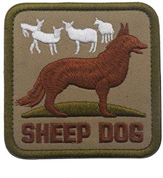 X. sem ovejas perro cuadrado parche – 2 Pack táctica parches bordado emblema de la moral: Amazon.es: Juguetes y juegos