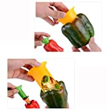 Hot Sale! AMA(TM) 2pcs Utility Chili Peppers Seed Tomatoes Core Separator Device Kitchen Tools (Random)
