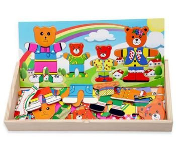 bear family dress up puzzle - 6