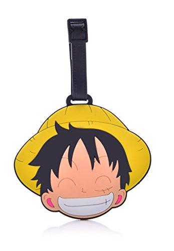 REINDEAR Heavy Duty One Piece Pirates Baggage Luggage Tag (Luffy Straw Hat)