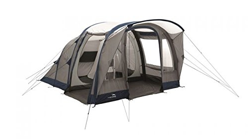 Easy Camp Hurricane 500 Inflatable Tunnel Tent - 5 Person, 3 Rooms, Light/Dark Blue, 120254