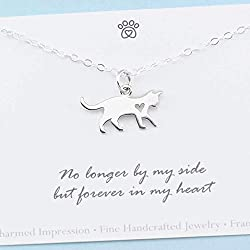 Loss of Loved One Cat Memorial • Sterling Silver Necklace • Sympathy Gift for Women • Remembrance Grief Jewelry • Death of Pet • In Loving Memory Gifts for Cat Mom • Always in My Heart