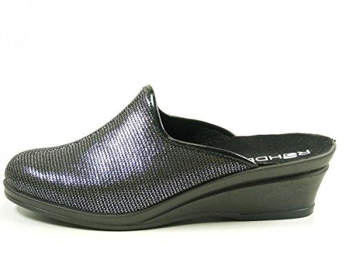 Rohde 2370-90 Halden Zapatillas de casa de sintético mujer Schwarz