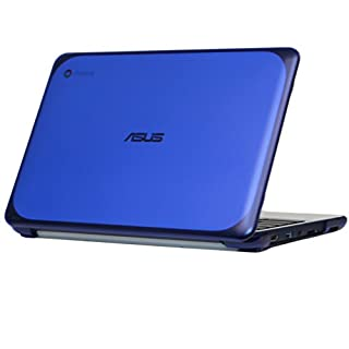 """mCover iPearl Hard Shell Case for 11.6"""" ASUS Chromebook C202SA Series Laptop - Blue"""