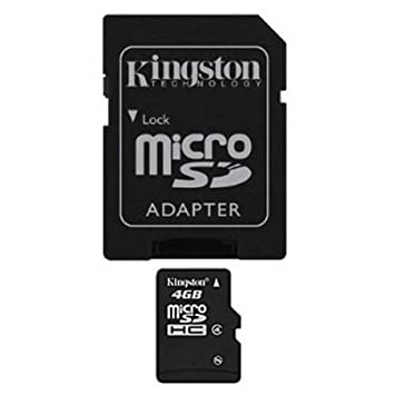 Amazon.com: 4 GB tarjeta de memoria flash microSDHC Clase 4 ...