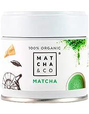 100% biologische matcha   Matcha Groene Theepoeder   Ceremoniële kwaliteit Matcha-thee   Matcha & CO (30 g)