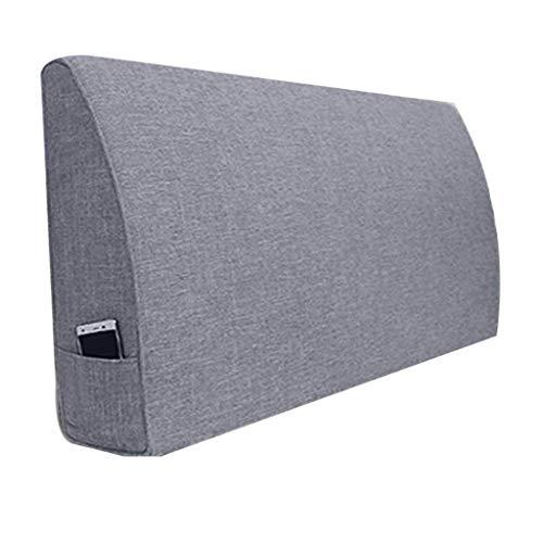 Grid No Headboard 90x15cm YJLGRYF Coussin de tête de lit Coussin de lit, coussin lombaire, couverture souple, lavables luxueux, draps dépendentifs avec sans tête de lit, 3 couleurs, 10 tailles, Coussin lombaire pour canapé lit