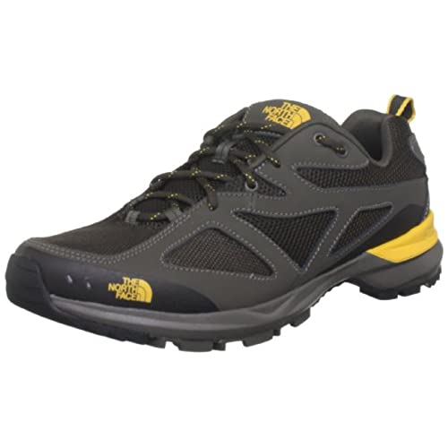 8b4884fd60c1 durable service The North Face Blaze Hiking Shoes Weimaraner Brown Tnf  Yellow Mens Sz 8