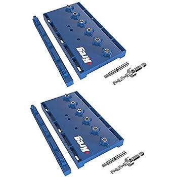 Kreg KMA3200 Hardened Steel Shelf Pin Hole Drilling Jig, 2-Pack