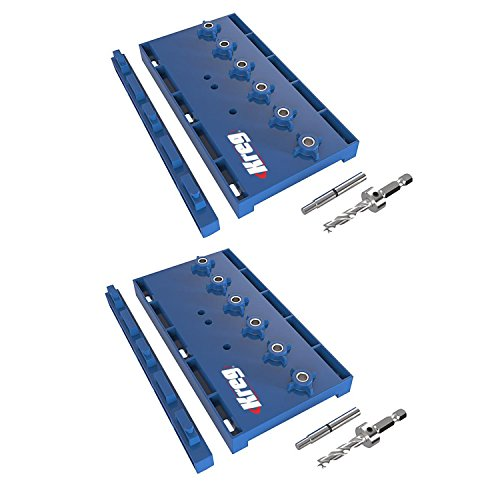 Kreg KMA3200 Hardened Steel Shelf Pin Hole Drilling Jig, (Pocket Hole Cabinets)
