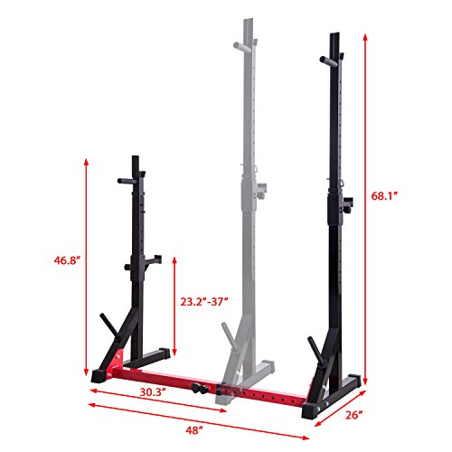 Ollieroo Barbell Rack Dip Stand Adjustable Fitness Squat Rack Weigh Gym Family