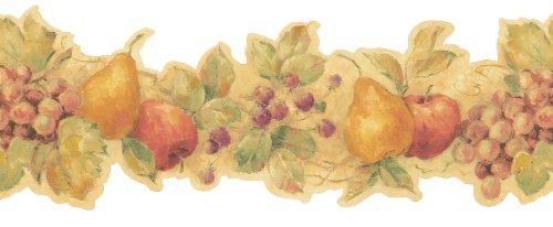 Die Cut Fruit Wallpaper Border - Brewster Beacon House 20B57606 Villa Toscana Die-Cut Fruit Wall Border, 9-Inch by 180-Inch