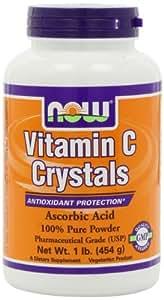 NOW Foods Vitamin C Crystals, Ascorbic Acid, 1 Pound
