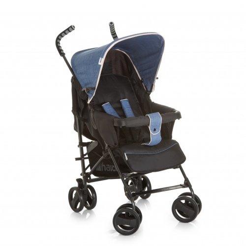 Hauck Sprint S Buggy, mit Liegefunktion, klein zusammenfaltbar, für Kinder ab 6 Monate bis 22 kg, schwarz (Melange Charcoal) Hauck GmbH + Co. KG (VSS) 133460