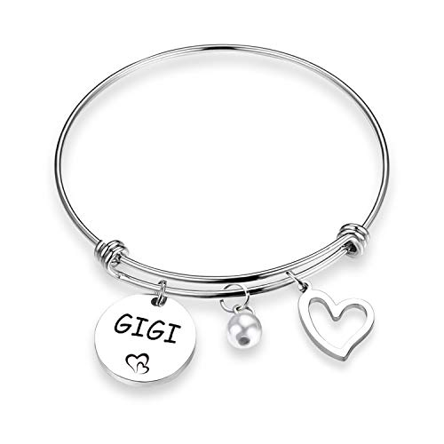 EIGSO Gigi Bracelet Memorial Gift for Nana Grammy Sweet Family Grandmother Bracelet Personalized Jewelry (Gigi BR) ()