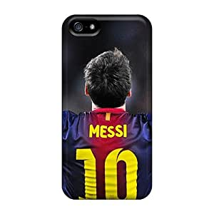 Iphone 5/5s Case Cover - Slim Fit Tpu Protector Shock Absorbent Case (the Player Of Barcelona Lionel Messi)