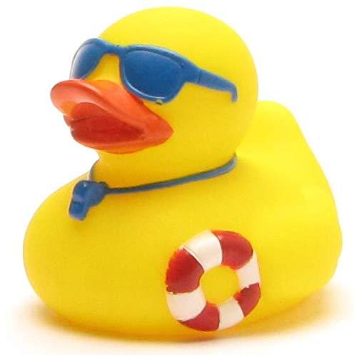 DUCKSHOP I Badeente Rettungsschwimmer I Quietscheente I L: 7,5 cm