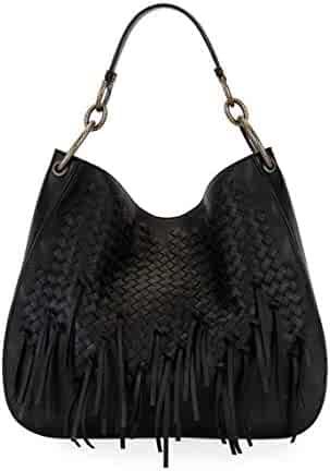 Bottega Veneta Large Loop Fringe Intrecciato Leather Hobo Bag Made in Italy ed0d50a99241d