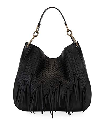 e313ae163dde Amazon.com: Bottega Veneta Large Loop Fringe Intrecciato Leather Hobo Bag  Made in Italy: Shoes