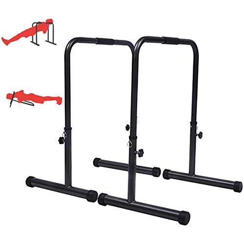 HT&PJ Het draagbare dip-station met instelbare hoogte kan tot 250 kg gewicht bevatten en is geschikt voor…