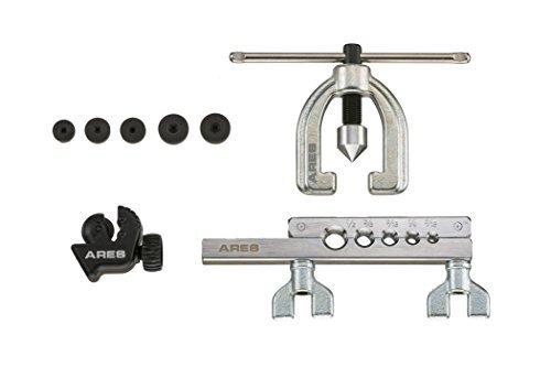 Herramienta de ensanchamiento doble | Ares 70212, | para tubos de cobre, Aluminio, línea de freno de acero suave y latón |...