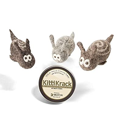 CatNip for Cats Twin Critters KittiTrails: Refillable Organic Silver Vine Catnip... [tag]