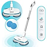 Gladwell Cordless Electric Mop - 3 In 1 Spinner, Scrubber, Waxer Quiet and Powerful Cleaner Spin Scrubber & Buffer, Polisher For Hard wood, Tile, Vinyl, Marble, Laminate Floor - 1 Year Warranty