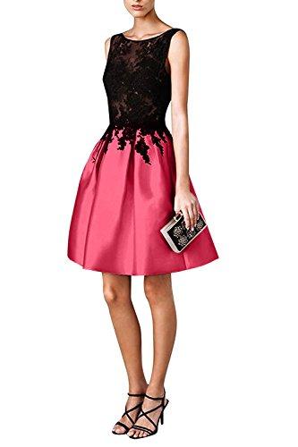 La Kurz Promkleider Cocktailkleider Ballkleider Mini Kleider Wassermelon Jugendweihe Spitze mia Braut Abendkleider Partykleider F4qrT4t