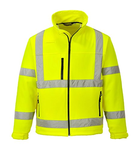 Portwest Workwear Mens Hi-Vis Softshell Jacket Yellow XL