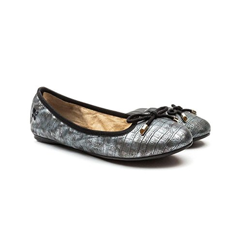 Donna Ballerine Francesca Butterfly Pewter Twists PTAnxt