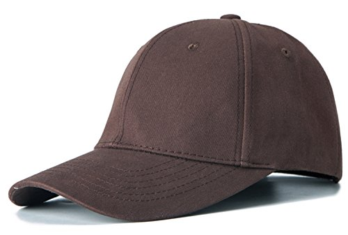 Edoneery Men Women 100% Cotton Adjustable Washed Twill Low Profile Plain Baseball Cap Hat(Coffee)